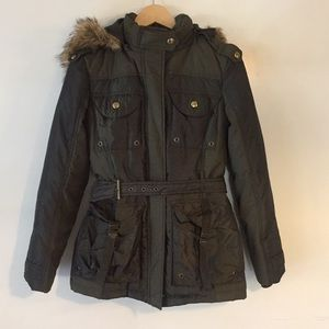 Miss Sixty zip up coat with hood. Size Small